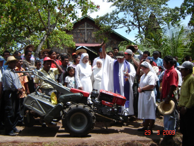 Blessing and receiving the Muttathara tractor yesterday